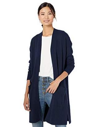 Goodthreads Amazon Brand Women's Wool Blend Jersey Stitch Longline Cardigan Sweater