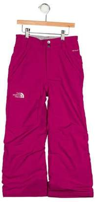 The North Face Girls' Embroidered Snow Pants