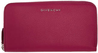 Givenchy Pink Long Pandora Zip Around Wallet