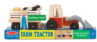 Melissa & Doug Farm Tractor Play Set