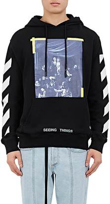 "Off-White c/o Virgil Abloh Men's ""Seeing Things"" Caravaggio-Print Cotton Hoodie $510 thestylecure.com"