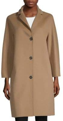 Max Mara Avila Three-Button Virgin Wool Coat