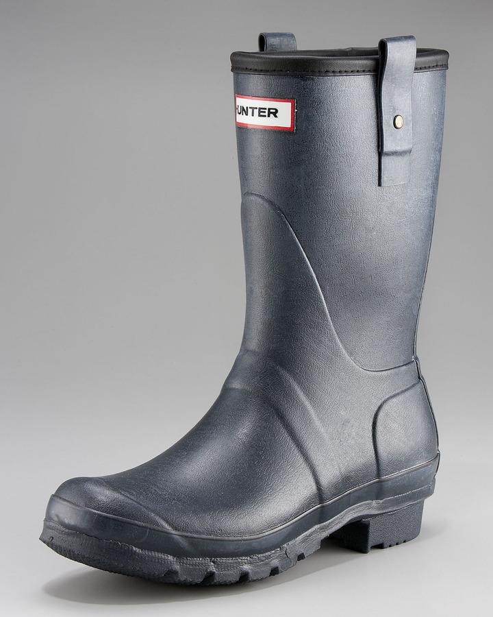 Hunter Short Welly Boot, Navy