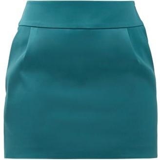 Alexandre Vauthier Pleated Satin Mini Skirt - Womens - Blue