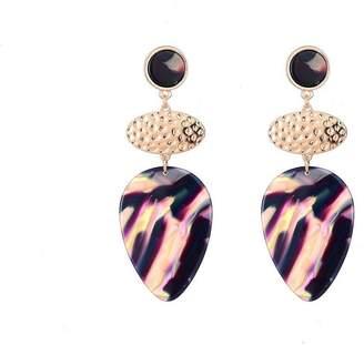 Jon Richard Jewellery Tortoiseshell Drop Pendant Earrings