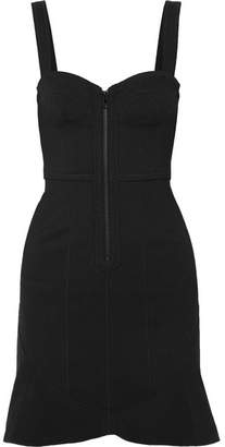 Isabel Marant Jayme Cotton-blend Stretch-crepe Mini Dress - Black