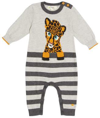 bonniemob Toto Cheetah Intarsia Coverall, Size 0-18 Months