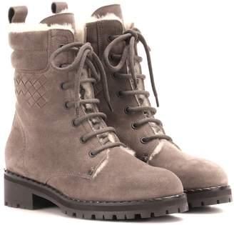 Bottega Veneta Intrecciato suede ankle boots