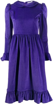 Batsheva Peter Pan collar knee-length dress