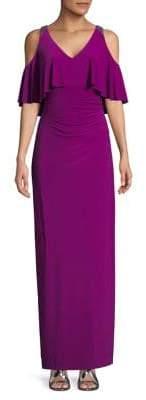 Lauren Ralph Lauren Cold-Shoulder Maxi Dress