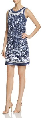 NIC and ZOE Blue Crush Print Dress $188 thestylecure.com