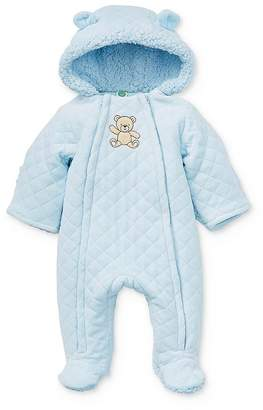 Little Me Boys' Quilted Bear Pram Suit - Baby