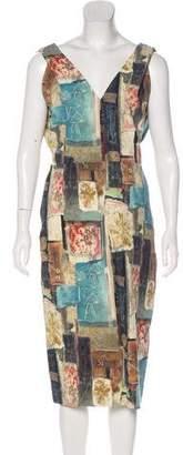 Donna Karan Printed Midi Dress