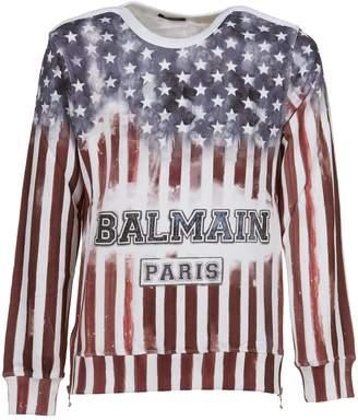 Balmain American Flag Sweatshirt