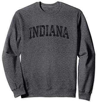 Vintage Indiana Crewneck Sweatshirt College Style Sports USA