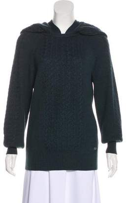Chanel Cashmere & Silk Cable Knit Sweater