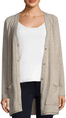 Three Dots Wool Blend Longline Cardigan