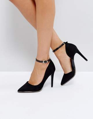 Call it SPRING Exerina Black Pointed Court Shoes