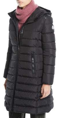 Moncler Taleve Zip-Front Hooded Mid-Length Quilted Puffer Jacket