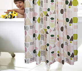 DwellStudio Geometry Shower Curtain