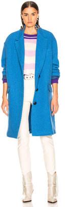 Etoile Isabel Marant Gimi Coat in Blue | FWRD