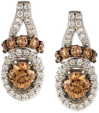 LeVian Le Vian Chocolatier Diamond Drop Earrings (7/8 ct. t.w.) in 14k White Gold