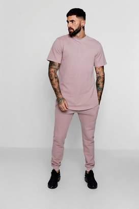 boohoo Pique T-Shirt & Super Skinny Jogger