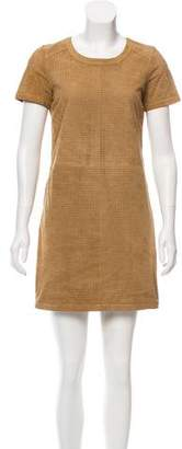 Comptoir des Cotonniers Perforated Suede Dress