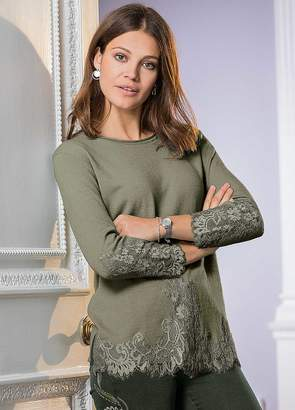 Together Lace Embellished Sweater