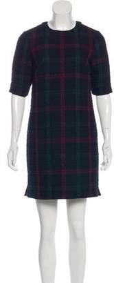 Elizabeth and James Plaid Short-Sleeve Mini Dress