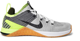 Nike Training - Metcon DSX 2 Flyknit and Rubber Sneakers - Light gray