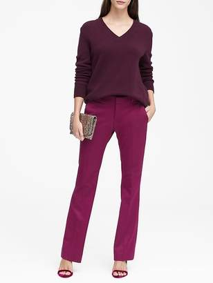 Banana Republic Logan Trouser-Fit Machine-Washable Herringbone Pant