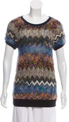 Peter Som Short Sleeve Knit Sweater