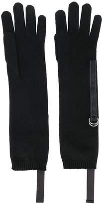 Brunello Cucinelli D-ring strap gloves