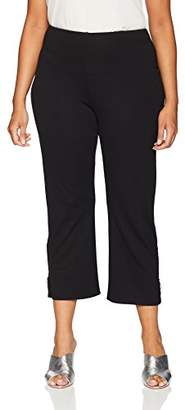 Lysse Women's Plus Size Gemini Ponte Flare Crop
