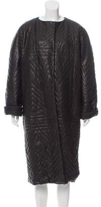 Lanvin Quilted Leather Coat