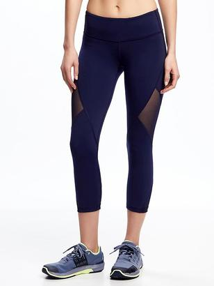 Mid-Rise Go-Dry Mesh-Panel Compression Capris for Women $29.94 thestylecure.com