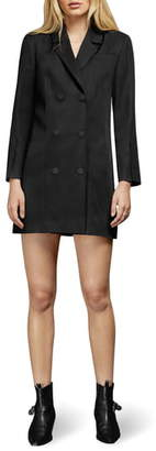 Anine Bing Francoise Long Sleeve Blazer Minidress