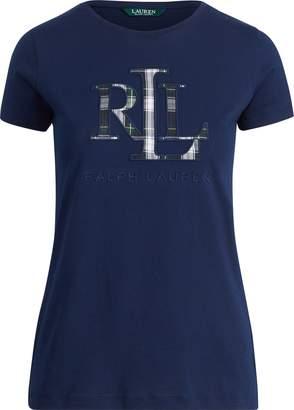 Ralph Lauren Plaid Applique Logo T-Shirt