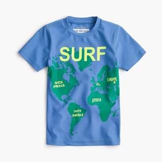 "J.Crew Boys' ""surf the world"" short-sleeve rash guard"