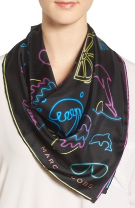 Women's Marc Jacobs Neon Lights Silk Scarf $175 thestylecure.com