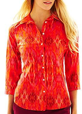 JCPenney jcpTM Silk-Blend Shirt
