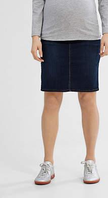 Esprit over-bump waistband stretch denim skirt