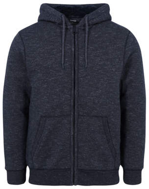 George Charcoal Borg Lined Zip Up Hoodie