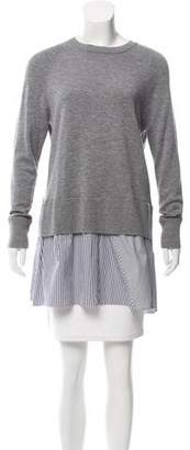 Thakoon Knit Stripe-Accented Sweater