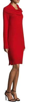 DKNY Rib Cowlneck Dress