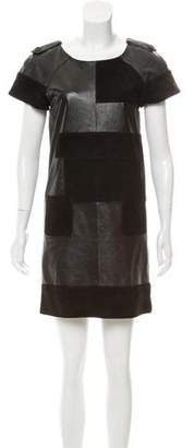See by Chloe Short Sleeve Leather Dress