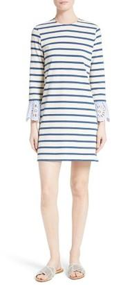 Women's Sea Eyelet & Stripe Cotton Dress $295 thestylecure.com