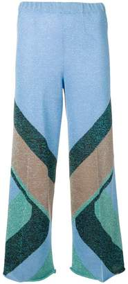 Circus Hotel patterned crop trousers