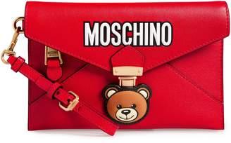Moschino Bear Faux Leather Wristlet
